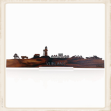 Skyline Vlieland - palissander hout_