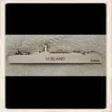 Skyline Vlieland magneet - blank hout_