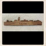 Skyline Vlieland magneet - noten hout_