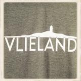 Print Vlieland met contour van het eiland_