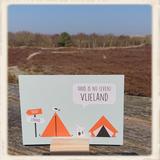 Kaartje 'Thuis is nu even Vlieland' _