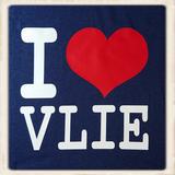 Kinder hoodie met I love Vlie print _