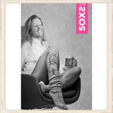 Dames SOXS - Bubble gum/ Grey - Knee high_