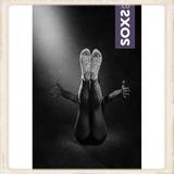 Dames SOXS - Mystical Purple / Grey - Knee high - Anti slip_