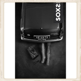 Heren SOXS - Jet Black / Grey - Knee high_