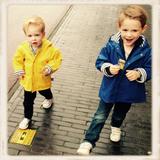 Marineblauwe regenjas voor kinderen_