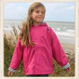 Roze regenjas voor kinderen_