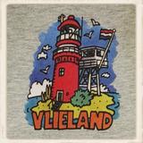 Kleurige print met de vuurtoren van Vlieland_