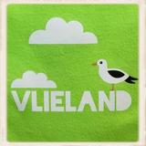 Print met Vlieland, meeuw & wolkjes_