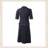 Basic dark blue polo dress_