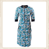 Blossom Petrol Blue dress_