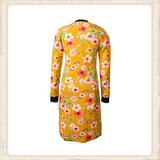 Yellow Flower zipper dress_