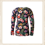Longsleeve Happy Dark Blue Flower_