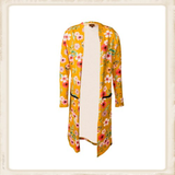 Vest Long Yellow Flower _