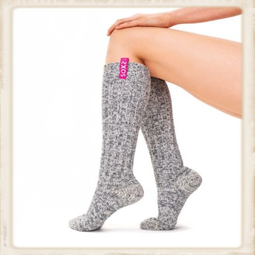Dames SOXS - Bubble gum/ Grey - Knee high