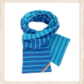 Sjaal dubbel - cobalt aqua