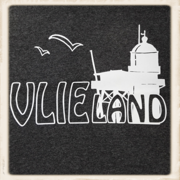 Trui met Vlieland & vuurtoren print