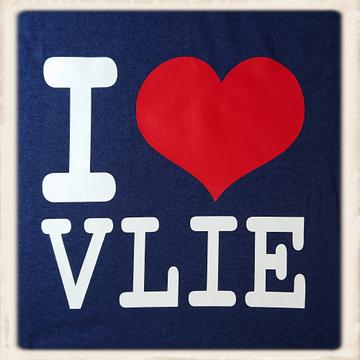 Kinder hoodie met I love Vlie print