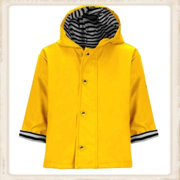 Gele regenjas voor kinderen