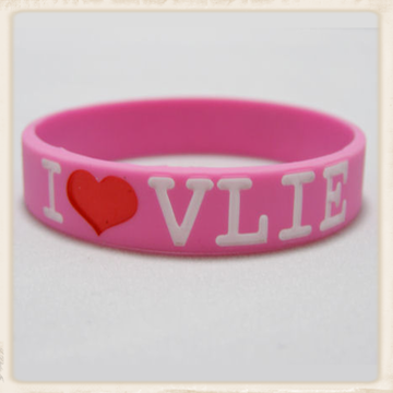 Armbandje I love VLIE in roze