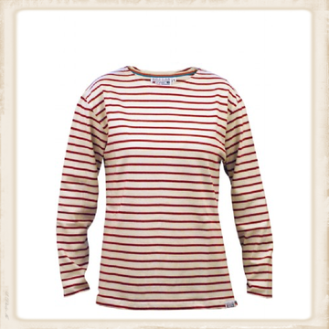 Adult Classic Breton Shirt - naturel/bordeaux