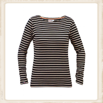 Breton shirt lange mouw - navy naturel