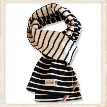 Sjaal dubbel - naturel navy