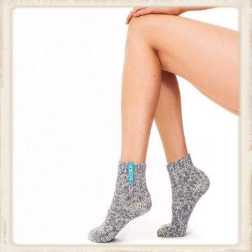 Dames SOXS - Crystal sea /Grey - Low - Anti Slip
