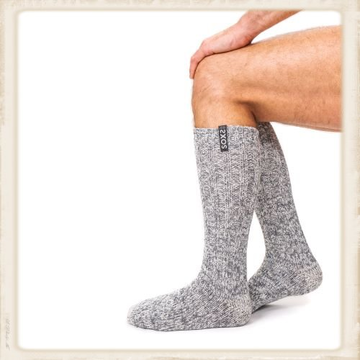 Heren SOXS - Jet Black / Grey - Knee high