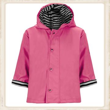 Roze regenjas voor kinderen