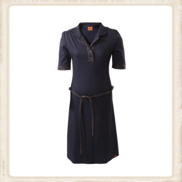Basic dark blue polo dress