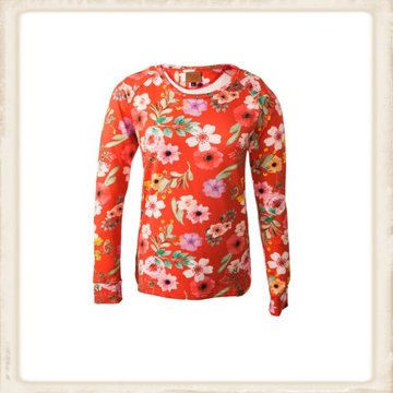 Longsleeve Happy Red Flower