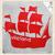 Print met piratenboot