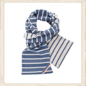 Sjaal dubbel - jeans naturel