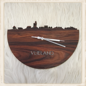 Klok skyline Vlieland palissander hout