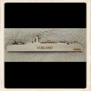 Skyline Vlieland magneet - blank hout