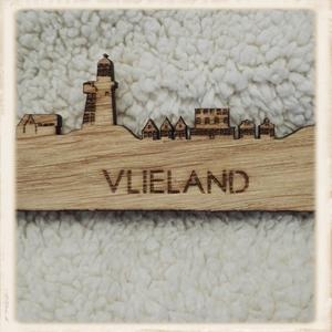 Skyline Vlieland magneet - eiken hout