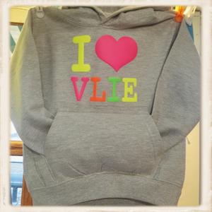 """Kinder hoodie met """"I Love Vlie"""" megamix"""