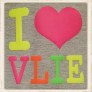 """""""I Love Vlie"""" megamix print"""