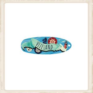 Sleutelhanger 'surfbord' Vlieland