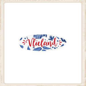 Sleutelhanger 'surfbord' Vlieland spetters