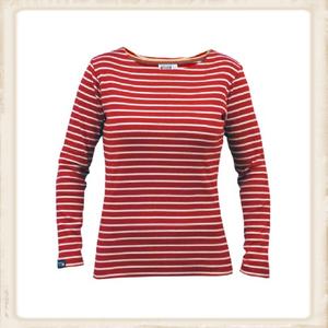 Bretons shirt lange mouw - rood naturel
