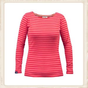 Bretons shirt lange mouw - fuchsia rood