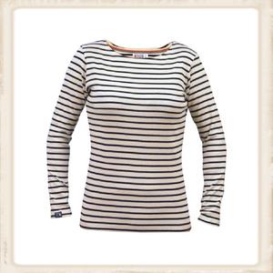 Breton shirt lange mouw - naturel navy