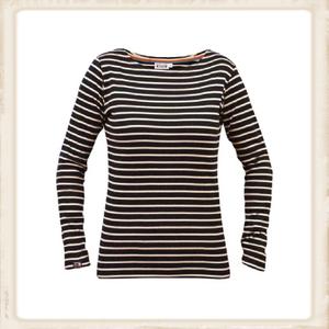 Breton shirt lange mouw - navy naturel