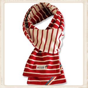 Sjaal dubbel - bordeaux naturel