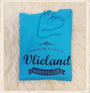 """Hoodie met """"Smooth sailing, Vlieland waddensea island"""""""
