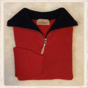Forvi trui - Rood met blauwe kraag - 336 135