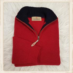 Forvi trui - Rood met blauwe kraag - 948 135