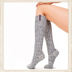 Dames SOXS - Mystical Purple / Grey - Knee high - Anti slip